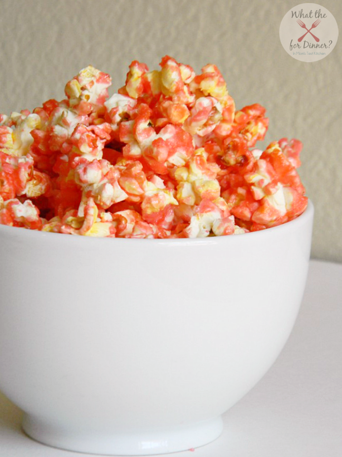 Red Hot Candied Popcorn #valentines