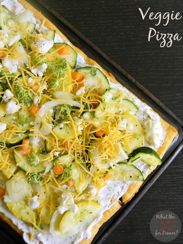 Veggie Pizza | Mom's Test Kitchen | #SecretRecipeClub