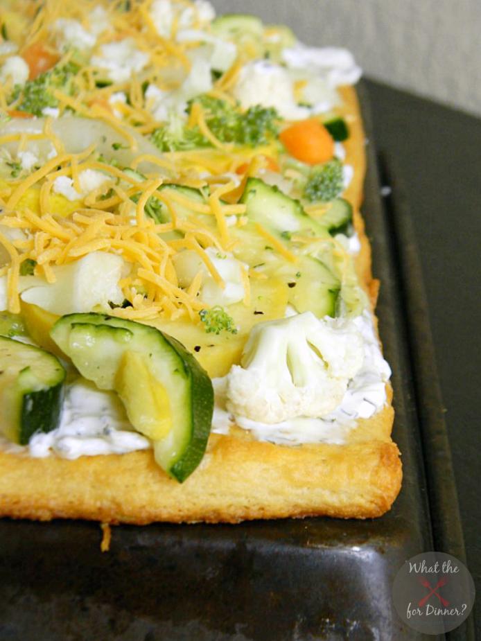 Veggie Pizza #SecretRecipeClub   Mom's Test Kitchen