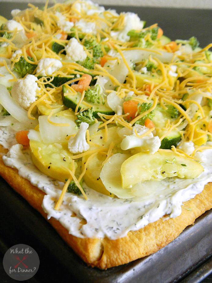 Veggie Pizza | Mom's Test Kitchen | #SRC