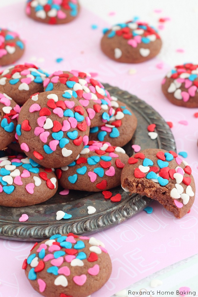 Chocolate & Cream Cheese Soft Cookies   Roxana's Home Baking