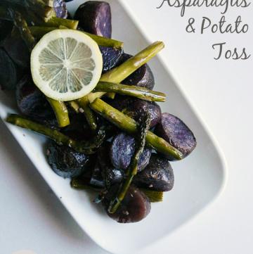 Roasted Asparagus & Potato Toss | MomsTestKitchen.com