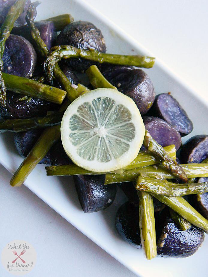 Roasted Asparagus & Potato Toss