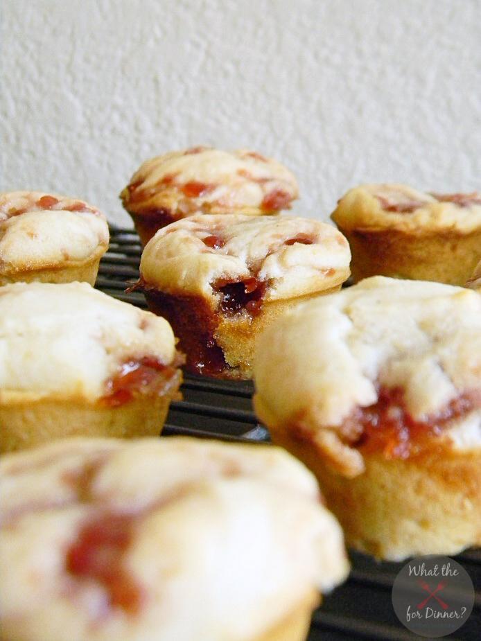 Cherry Swirled Donut Muffins   MomsTestKitchen.com