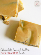 Chocolate Peanut Butter No-Bake Bars