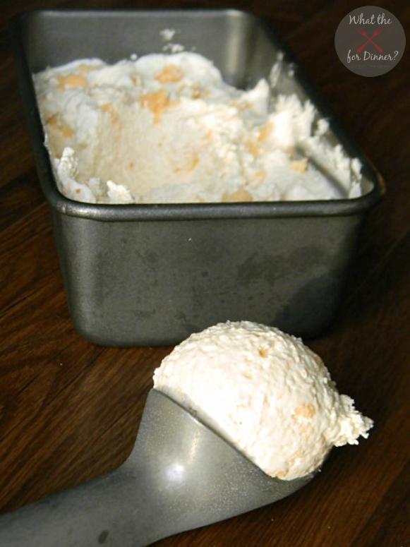Skinny Creamsicle Cake Batter No Churn Ice Cream | MomsTestKitchen.com | #TENways #PMedia #ad