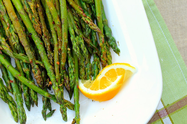Asparagus with Lemon Mint & Red Peppers