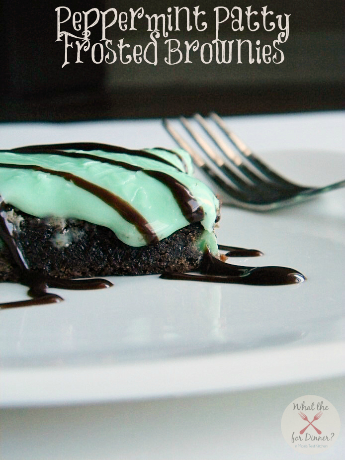 Peppermint Patty Frosted Brownies   www.momstestkitchen.com