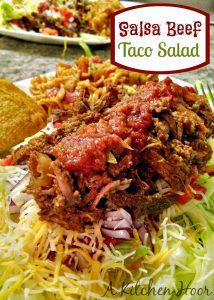 A Kitchen Hoor's Salsa Beef Taco Salad