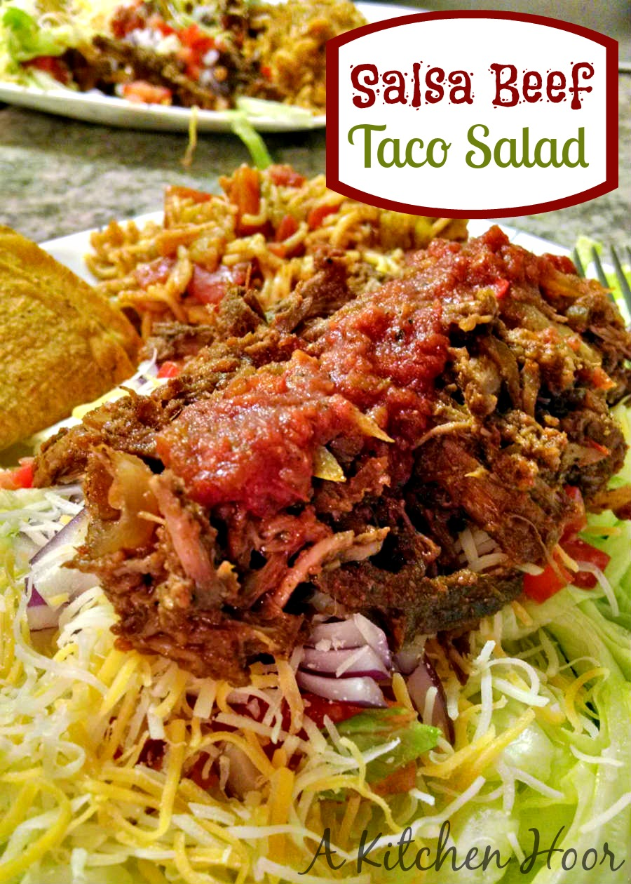 Salsa Beef Taco Salad - Mom's Test Kitchen