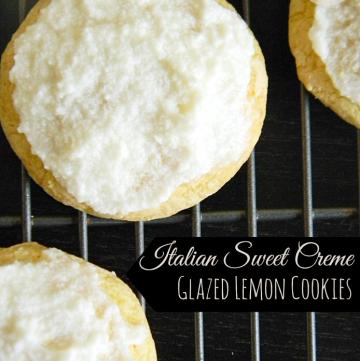 Italian Sweet Creme Glazed Lemon Cookies | www.momstestkitchen.com | #ExtraSweetCreamyCGC