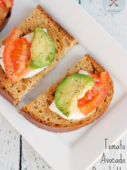 Tomato Avocado Bruschetta | www.momstestkitchen.com | #glutenfree