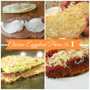Chicken Eggplant Parmesan in One