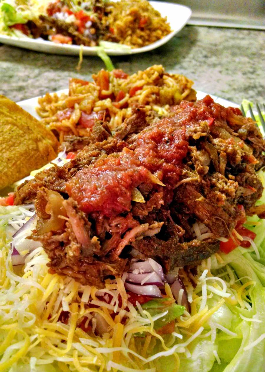 A Kitchen Hoor | Salsa Beef Taco Salad