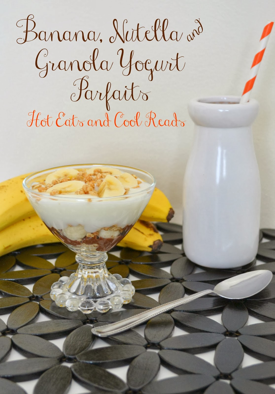 Banana, Nutella & Granola Yogurt Parfaits