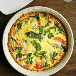 Caprese Florentine Quiche | MomsTestKitchen.com | #OreIdaHashbrowns #CollectiveBias #shop