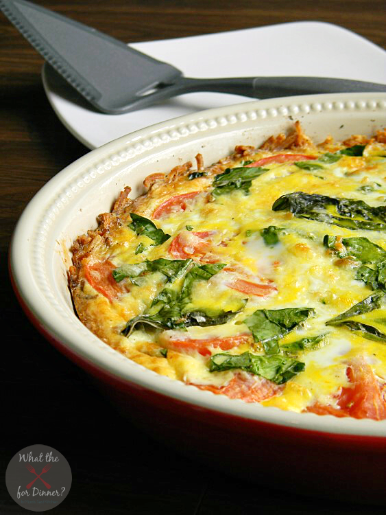 Caprese Florentine Quiche | #OreIdaHashbrowns #CollectiveBias #shop
