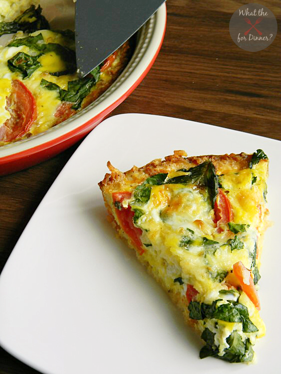 Caprese Florentine Quiche | www.momstestkitchen.com | #OreIdaHashbrowns #CollectiveBias #shop