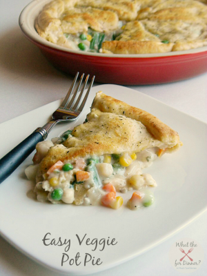 Easy Vegetable Pot Pie | MomsTestKitchen.com | #PiDay