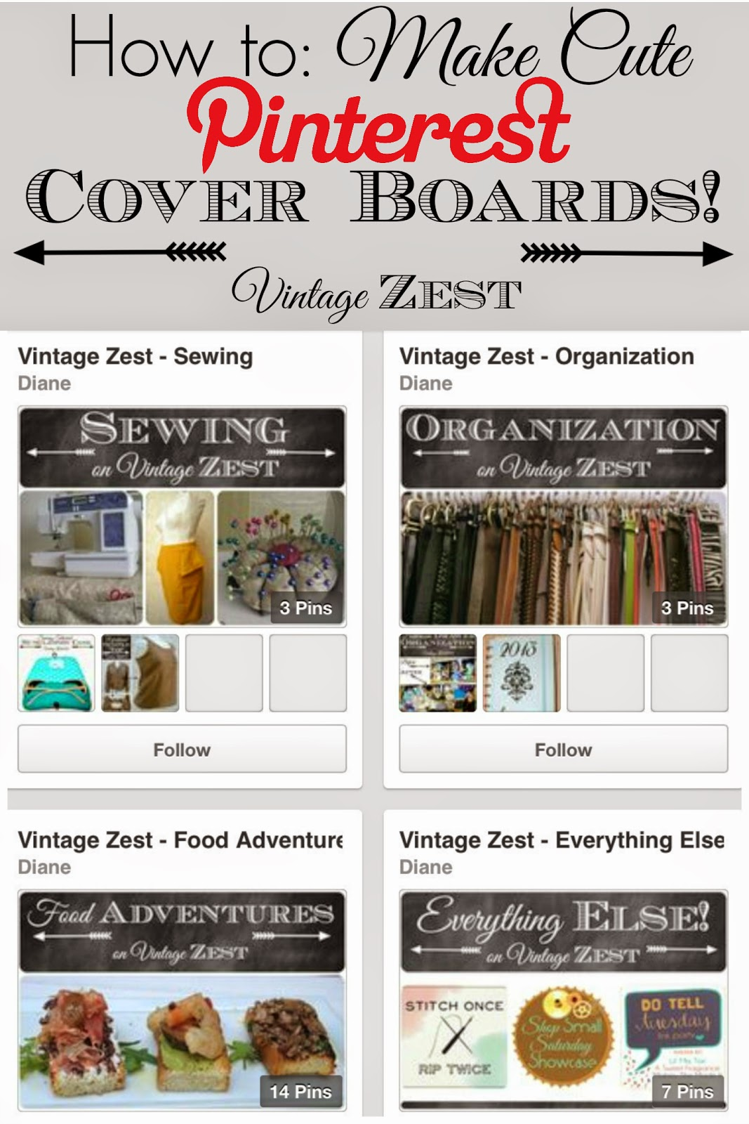 How to Make Pinterest Board Covers