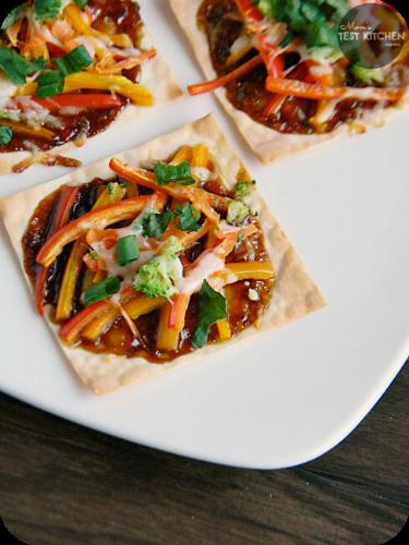 Mini Asian Vegetable Pizzas