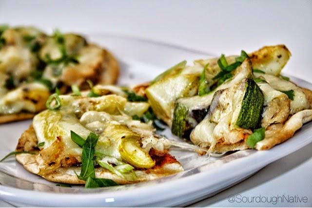 Grilled Chicken & Zucchini Pizzettas