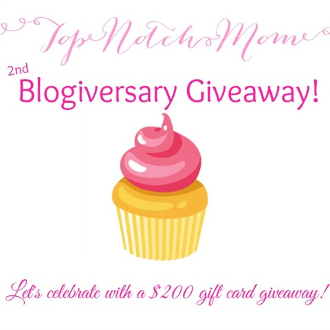 Top Notch Mom 2nd Anniversary Giveaway
