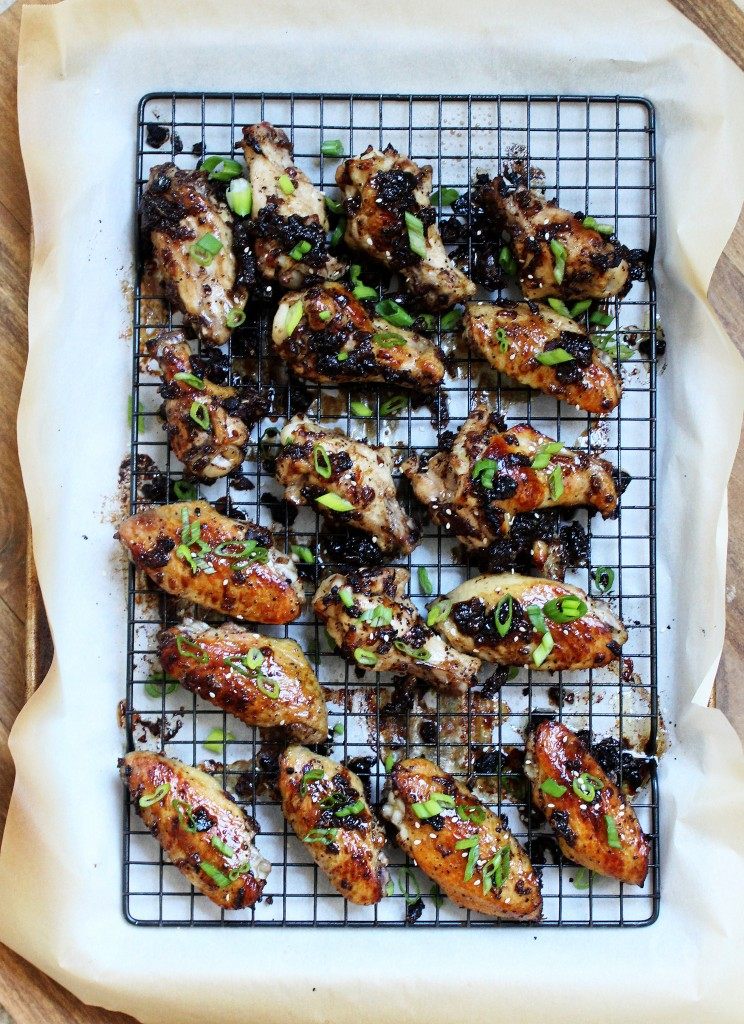Bacon Jam Glazed Chicken Wings