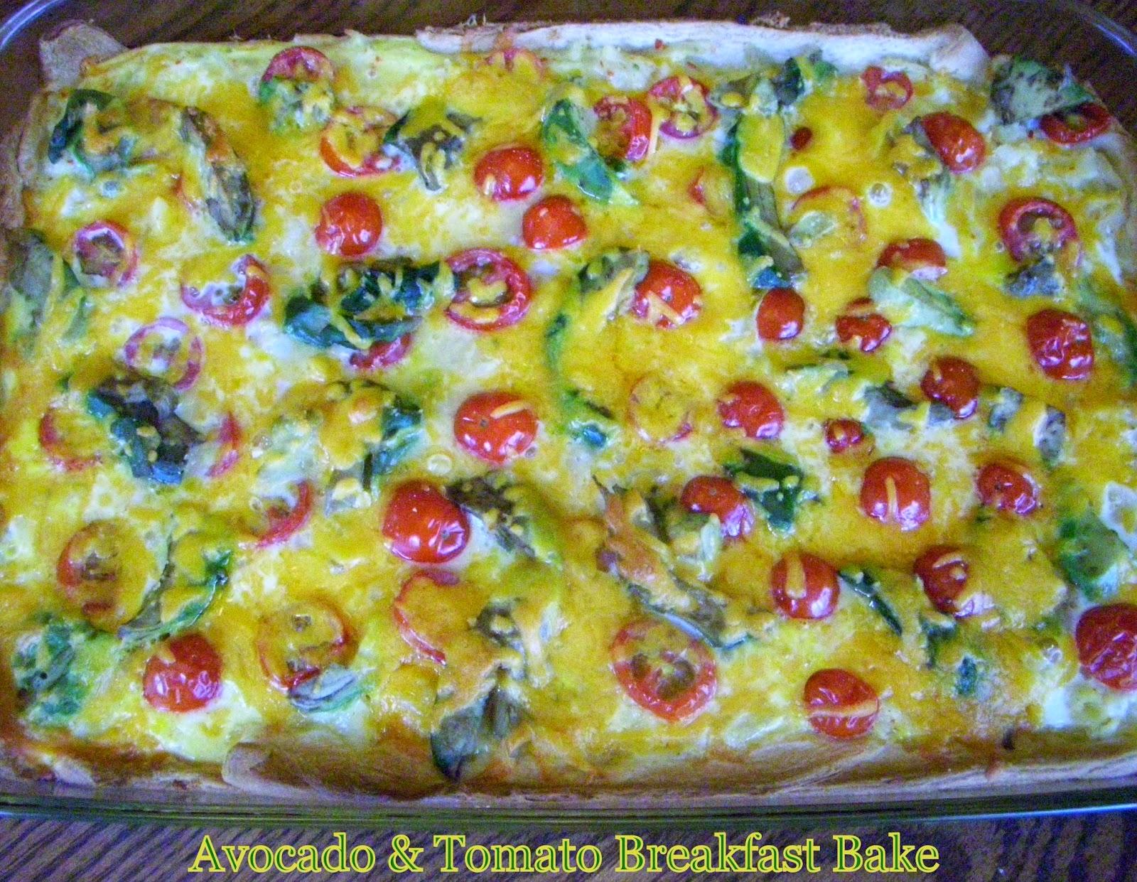 Avocado & Tomato Breakfast Casserole