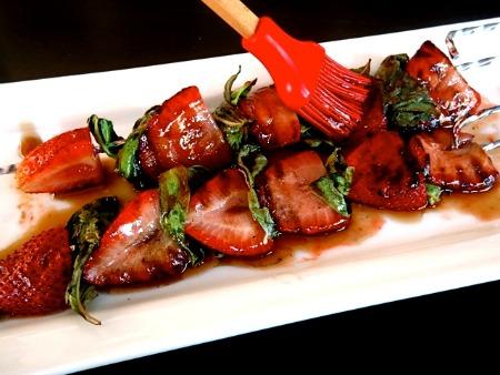 Grilled Strawberry Basil Kebab