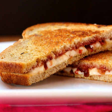Strawberry, Bacon & Havarti Grilled Cheese