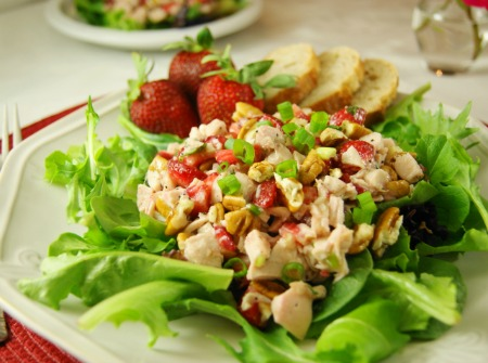 Strawberry Chicken Salad & Homemade Poppy Seed Dressing