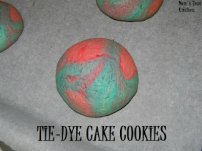 Tie-Dye Cake Cookies