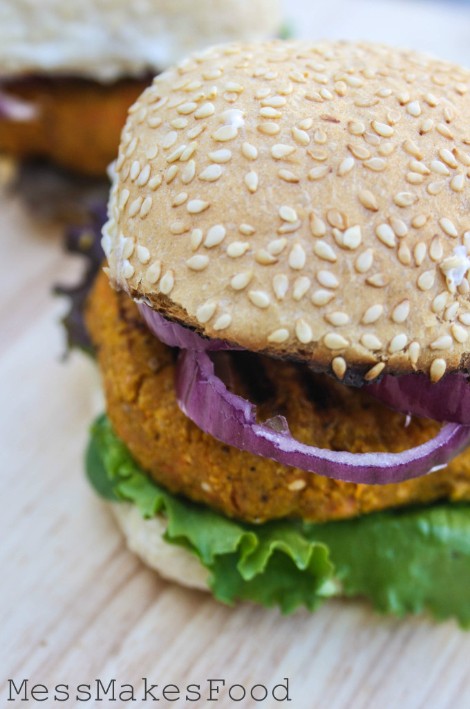 Sesame Carrot & Chickpea Burgers