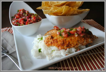 Easy Tilapia with Strawberry Salsa