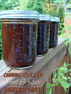 Canning Your Own Sweet and Spicy Barbeque Sauce from Juggling Act Mama