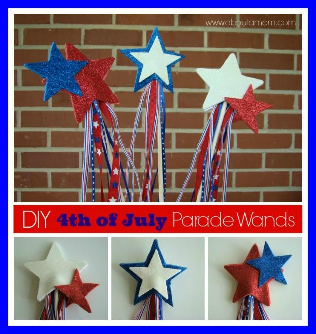 DIY 4th of July Parade Wands