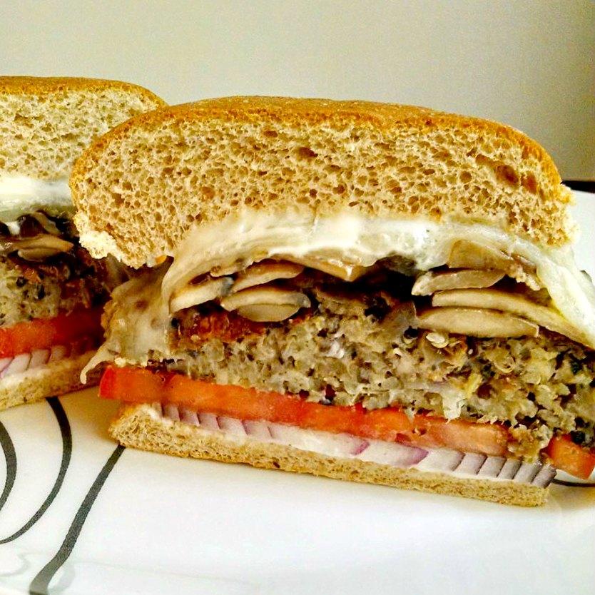 Mushroom Swiss Mushroom Swiss Burgers | contributor Post from A Kitchen Hoor's Adventures