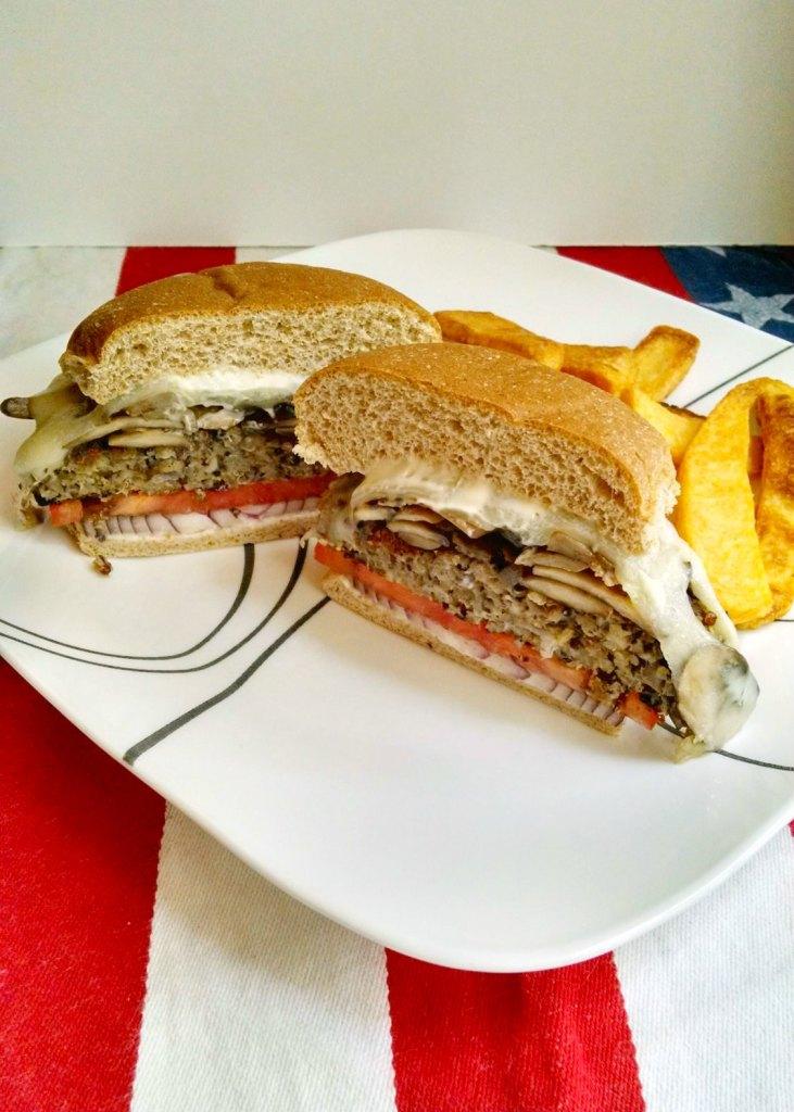 Mushroom Swiss Mushroom Swiss Burgers   contributor Post from A Kitchen Hoor's Adventures