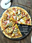 Roasted Vegetable Enchilada Pizza | MomsTestKitchen.com