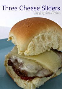 Three Cheese Sliders from Juggling Act Mama