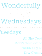 Wonderfully Creative Wednesdays Link Party