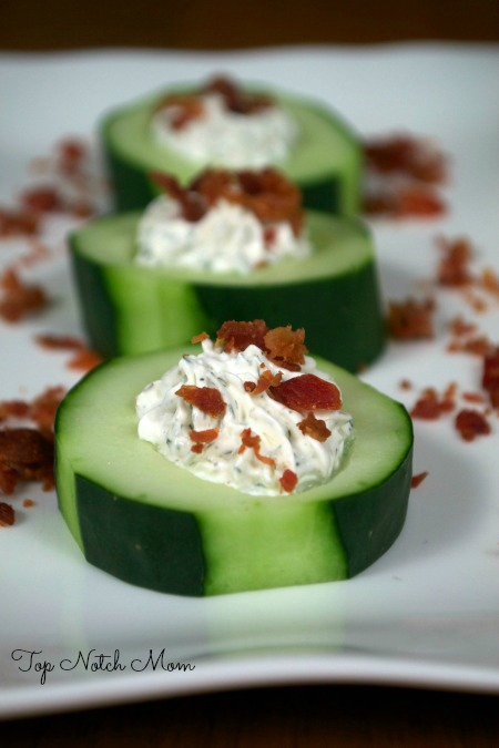 Stuffed Cucumber Cups | MomsTestKitchen.com