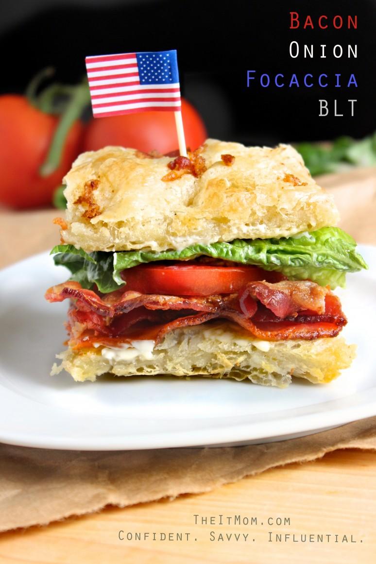 Bacon Onion Focaccia BLT