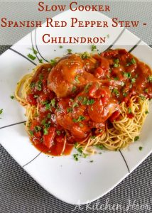 Slow Cooker Spanish Red Pepper Stew - Chilindron