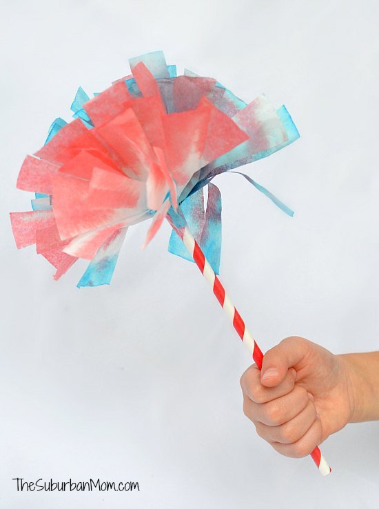 4th of July Coffee Filter Firework Pom Poms