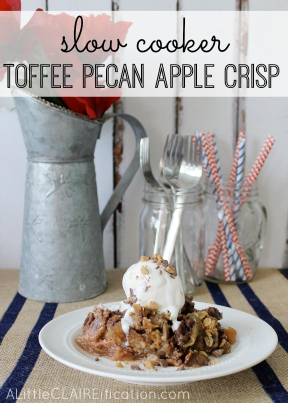 Crockpot Toffee Pecan Apple Crisp