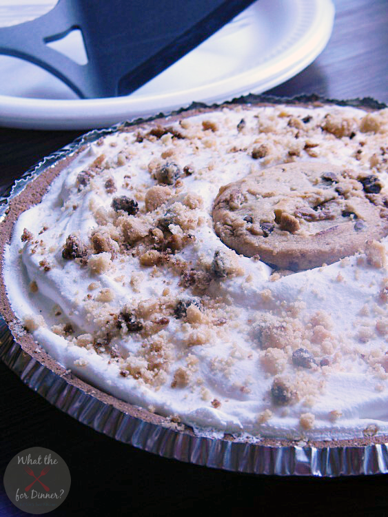 No Bake Peanut Butter Cup Chocolate Chip Cookie Pie