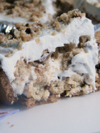 No-Bake Peanut Butter Cup Chocolate Chip Cookie Pie