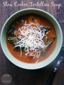 Slow Cooker Tortellini Soup | MomsTestKitchen.com | #SlowCookingSummer